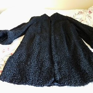 Jackets & Blazers - Vintage Persian Curly Lamb Swing Coat